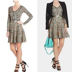 BCBG MAXAZRIA Melora Leopard Print mini dress